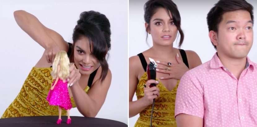 We Asked Vanessa Hudgens to Give a Haircut to a Stranger — These Are the Results