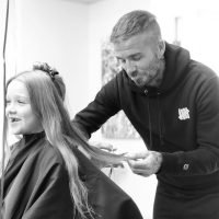 David Beckham Cuts Daughter Harper's Hair and Says She Looks Even More 'Beautiful' Now
