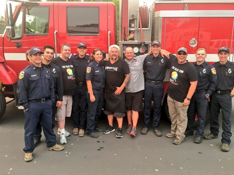 Guy Fieri Helps Feed Hundreds of Victims and Response Crews During California Wildfire