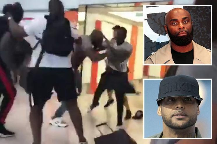 Rival rappers brawl in Paris Orly airport duty free and beat each other with perfume bottles in front of terrified passengers