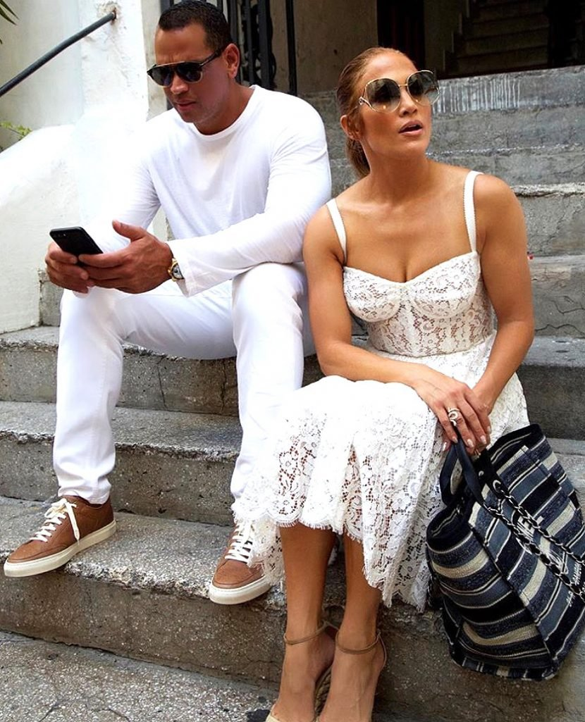 Jennifer Lopez and Alex Rodriguez Flaunt Sweet Romance (and Matching Outfits!) on Vacation in Italy