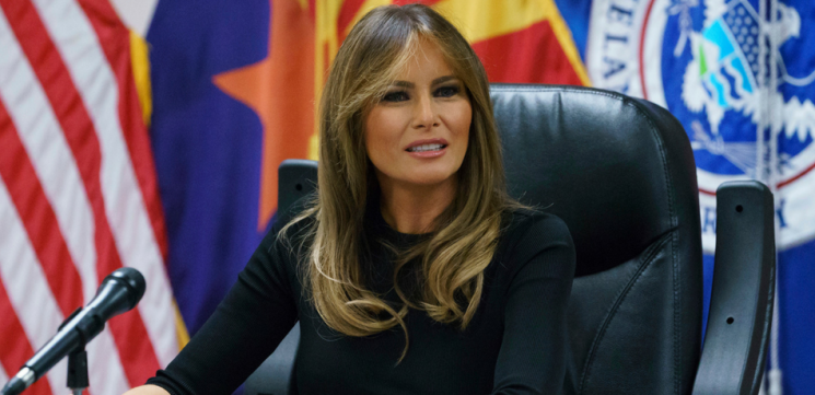 Melania Trump Laughed When She Saw Chrissy Teigen's Comments About Her Gardening Shoes, Says 'Hollywood Life'