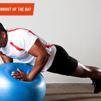 Superhero Fit Workout Move of the Day: Swiss Ball Pushups