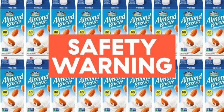 Blue Diamond Almond Milk Recalled for Containing Cow's Milk
