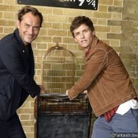 Eddie Redmayne and Jude Law Pay Surprise Visit to Platform 9 3/4 at King's Cross Station