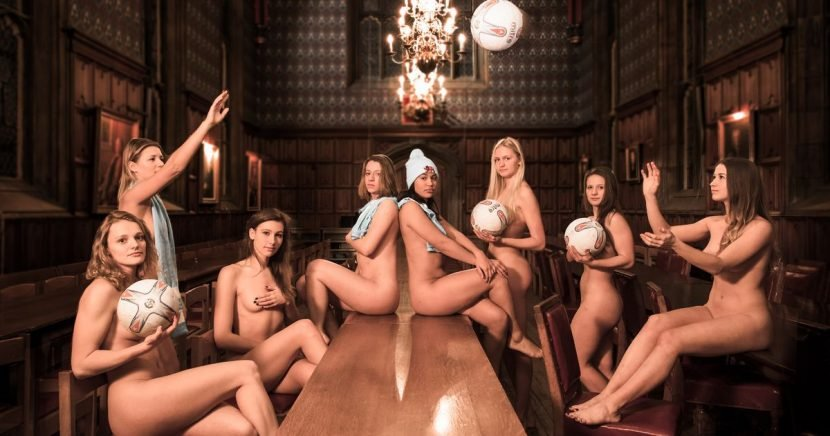 Cambridge University students bravely strip off for daring charity calendar