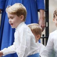Prince George plays soldier as Princess Charlotte is shy bridesmaid at wedding