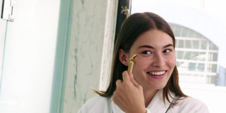 What Model Grace Elizabeth Uses On Her Skin Every Night