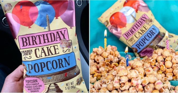 Very Important Announcement: Trader Joe's Now Sells Birthday Cake Popcorn!