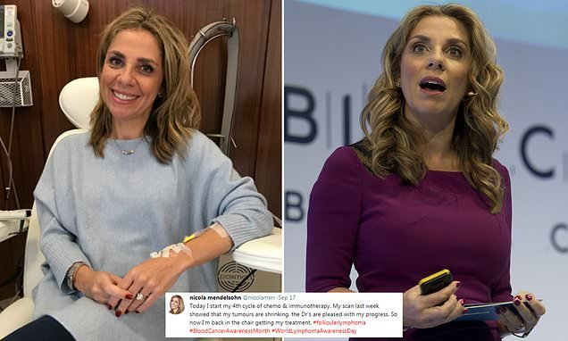 Facebook's Nicola Mendelsohn reveals her tumours are shrinking