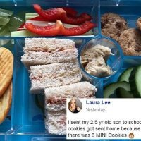 Mother reveals mini cookies in her child's lunch box were sent home