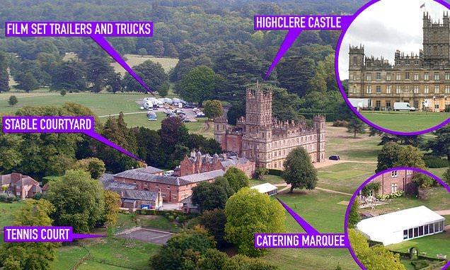 Downton Abbey movie: First images of the Highclere Castle set unveiled