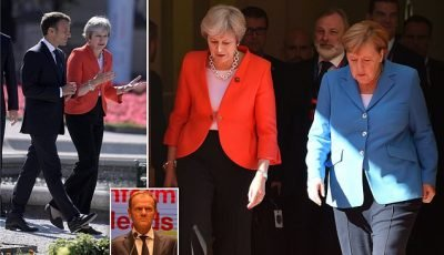 Desperate May clings to Chequers plan for Brexit despite Tory mutiny