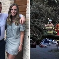 Agony of bride-to-be as fiancé, 24, is killed by falling tree in storm