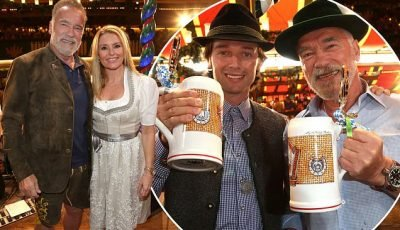 Arnold Schwarzenegger, 71, gets into the Oktoberfest spirit