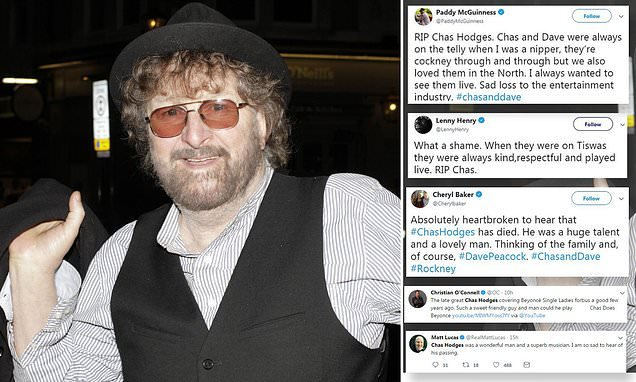 Tottenham and stars pay tribute to Chas Hodges of Chas and Dave