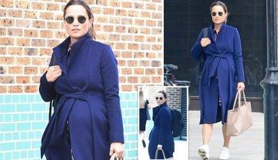 Pregnant Pippa Middleton leaves her Kensington gym