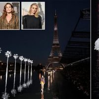 Kaia Gerber wows on WATERFALL catwalk at Saint Laurent's show