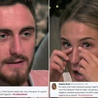Crying First Dates star blames tears on 'no sleep and prosecco'