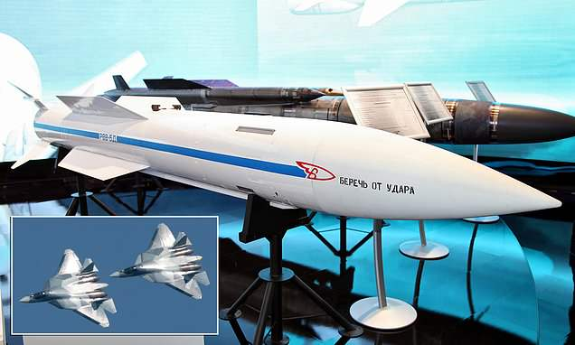 Russian air-to-air missile can hit enemy planes from 200 miles away