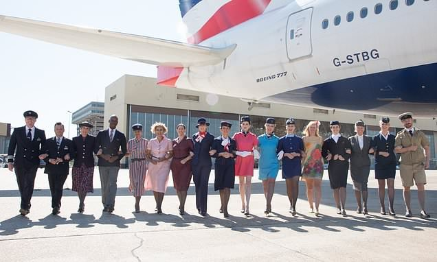Fascinating photos show how British Airways uniforms have changed