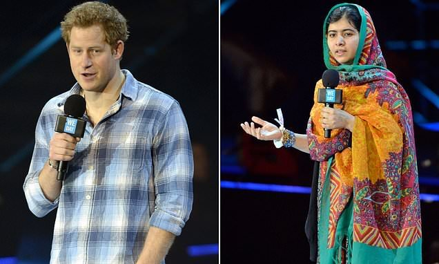 Prince Harry made embarrassing faux pas while meeting Malala Yousafzai
