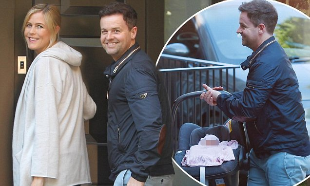 Declan Donnelly brings baby daughter Isla home with wife Ali Astall