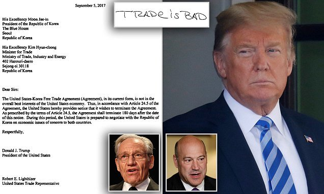 Letter Gary Cohn stole from Trump's desk  appears in Woodward book