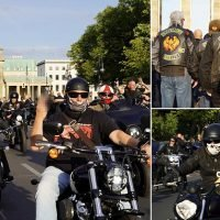 Hells Angels ride through Berlin to protest biker symbols crackdown