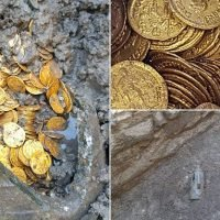 Huge cache of pristine 5th-century gold coins is found under theatre