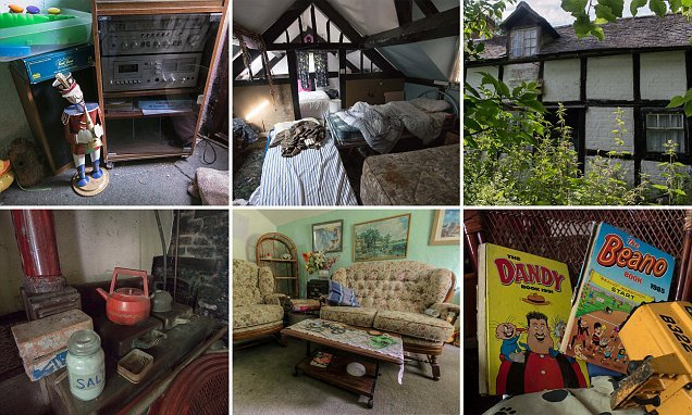 Eerie images reveal inside of remote Scottish home