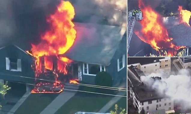 Multiple injured after more than 70 properties EXPLODE near Boston