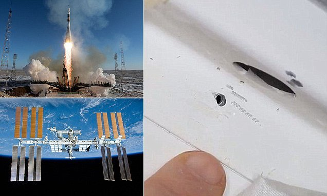 Evidence of 'drilling' found aboard the International Space Station
