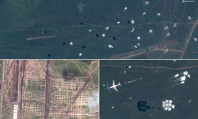 Satellite images show Russia's tanks and planes during Vostok games