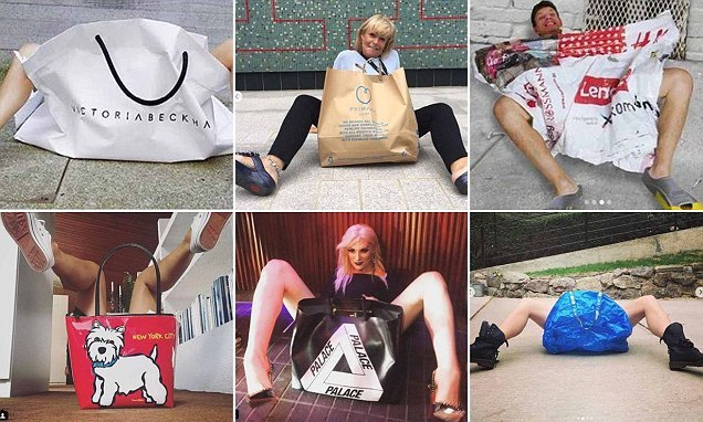 Victoria Beckham fans recreate carrier bag campaigns at home