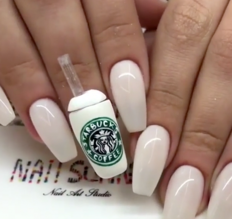 You Can Actually Drink Coffee Out Of This Starbucks Cup Mani & This Can't Be Sanitary