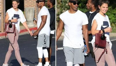 Rarely seen couple Katie Holmes and Jamie Foxx work up a sweat during hardcore gym session