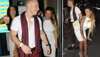 Katie Price's ex Kris Boyson surrounded by models as he attends UK Glamour Awards at Spearmint Rhino