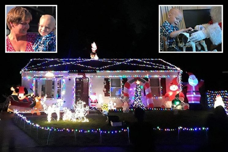 Christmas comes early for terminally ill two-year-old boy as neighbours bring festive magic to his final weeks of life