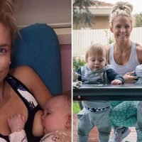 Fitness blogger ditches parenting advice that warns not to feed your baby to sleep – and insists it's why her third child is the best sleeper