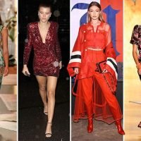 Sofia Richie dazzles in sequin minidress and Gigi Hadid looks ravishing in red on day six of New York Fashion Week