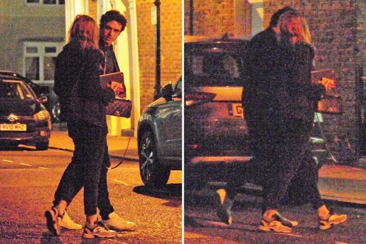 Bodyguard star Richard Madden looks loved up with girlfriend Ellie Bamber as they rush home to watch the show on TV