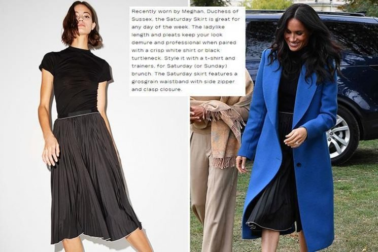 Misha Nonoo is using friend Meghan Markle's name to flog £190 skirt on her website – just a day after she wore it
