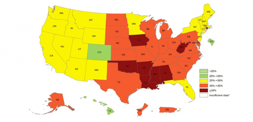 Obesity Rates Climb To 35% In Seven U.S. States