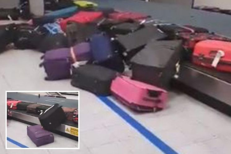 Manchester Airport baggage team under fire AGAIN as suitcases crash off carousel