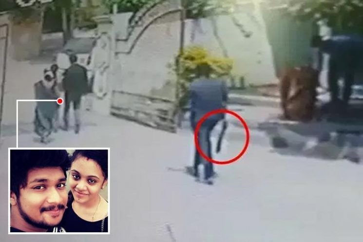 Horrific moment husband is hacked to death with machete in front of pregnant wife 'because he came from lower caste'