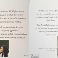 These are all the letters the Royal family have sent to thank people for their messages – and we love the photo of Louis