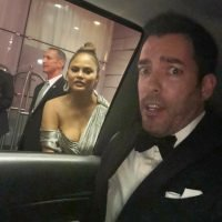 Chrissy Teigen & John Legend Try But Fail To Hitch A Ride With The 'Property Brothers' At The