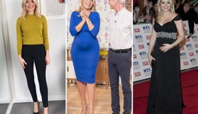 Holly Willoughby reveals she put on three stone during every one of her pregnancies as midwives warn of weight gain dangers