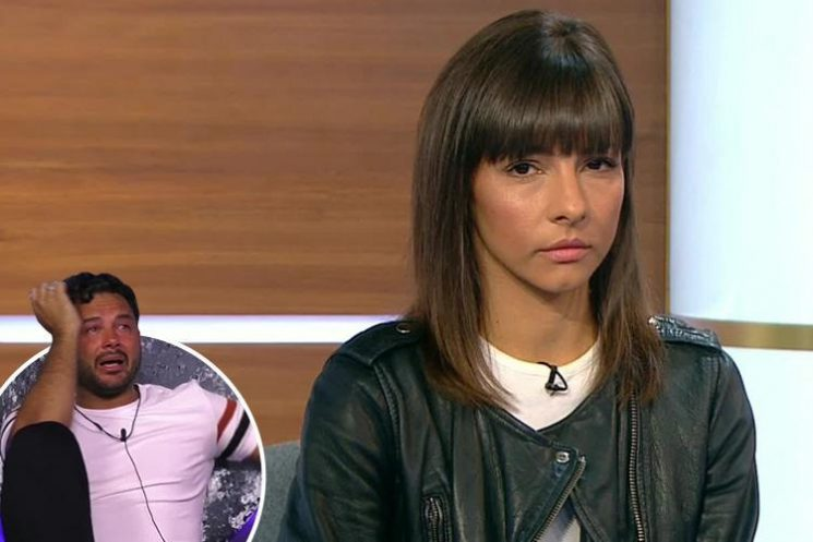 Roxanne Pallett was sick as soon as she walked off set after CBB 'punch' interview with Jeremy Vine